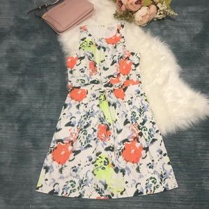 NWT Gap White Floral Fit & Flare Dress Size 6